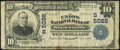 National Bank Notes:West Virginia, Sistersville, WV - $10 1902 Plain Back Fr. 632 The Union NB Ch. #(S)5028 Very Good.. ...
