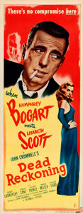 """Movie Posters:Film Noir, Dead Reckoning (Columbia, 1947). Rolled, Very Fine. Insert (14"""" X36"""").. ..."""