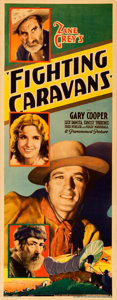 "Movie Posters:Western, Fighting Caravans (Paramount, 1931). Rolled, Very Fine. Insert (14"" X 36"").. ..."