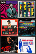 "Movie Posters:James Bond, James Bond Vinyl Lot (Various, 1965 - 1992) Very Fine+. Vinyl Records (12) (12.5"" X 12.5""). James Bond.... (Total: 12 Items)"