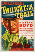 """Movie Posters:Western, Twilight on the Trail (Paramount, 1941) Fine+ on Linen. One Sheet (27.5"""" X 41""""). Western...."""