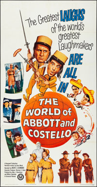 """The World of Abbott and Costello (Universal, 1965) Folded, Very Fine. Three Sheet (41"""" X 79""""). Comedy"""