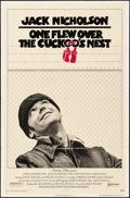 "Movie Posters:Academy Award Winners, One Flew Over the Cuckoo's Nest (United Artists, 1975) Folded,Fine/Very Fine. One Sheet (27"" X 41""). Academy Award Winners...."