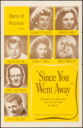 "Movie Posters:Drama, Since You Went Away (United Artists, 1944) Folded, Fine/Very Fine. One Sheet (27"" X 41""). Drama...."