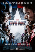 "Movie Posters:Action, Captain America: Civil War (Walt Disney Studios, 2016) Rolled, Very Fine+. One Sheet (27"" X 40"") DS Advance. Action.. ..."
