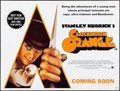 "Movie Posters:Science Fiction, A Clockwork Orange & Others Lot (Warner Brothers, R-2000s) Folded, Overall: Fine/Very Fine. British Quad (30"" X 40"") Advance... (Total: 3 Items)"