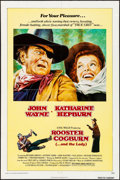 """Movie Posters:Western, Rooster Cogburn (Universal, 1975) Folded, Fine+. One Sheet (27"""" X 41""""). Western.. ..."""