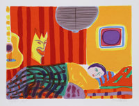 John Grillo (1917-2014) Duerme, 1980 Serigraph in colors on wove paper 26 x 35-1/2 inches (66 x 9
