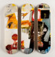 After Robert Rauschenberg X The Skateroom Overdrive, triptych, 2016 Screenprints in colors on skate decks 31 x 8 inch...