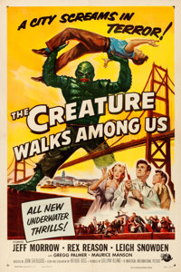 "The Creature Walks Among Us (Universal International, 1956). Very Fine- on Linen. One Sheet (27"" X 41""). Reyno..."