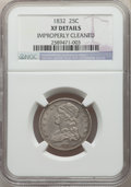 Bust Quarters: , 1832 25C -- Improperly Cleaned -- NGC Details. XF. NGC Census: (8/95). PCGS Population: (35/169). XF40. Mintage 320,000. ...