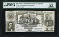 Confederate Notes:1861 Issues, CT-20/141 Counterfeit $20 Sep. 2, 1861 PMG About Uncirculated 53.....