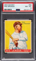 Baseball Cards:Singles (1930-1939), 1933 Goudey Tris Speaker #89 PSA NM-MT 8 - Only One Higher. ...
