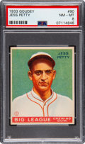 Baseball Cards:Singles (1930-1939), 1933 Goudey Jess Petty #90 PSA NM-MT 8 - None Higher! ...