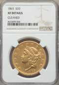 Liberty Double Eagles: , 1865 $20 -- Cleaned -- NGC. XF. NGC Census: (15/752). PCGS Population: (31/346). CDN: $1,900 Whsle. Bid for problem-free NG...