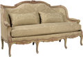 Furniture, A Louis XV-Style Settee with Wool Damask Upholstery, circa 1880. 42-1/4 x 73-1/4 x 30-1/2 inches (107.3 x 186.1 x 77.5 cm). ...