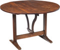 Furniture , A French Oak Tilt-Top Wine Tasting Table, 19th century. 27 x 40 x 40 inches (68.6 x 101.6 x 101.6 cm). PROPERTY FROM THE C...