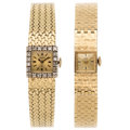 Estate Jewelry:Watches, Diamond, Gold Watches. ... (Total: 2 Items)