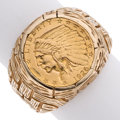 Estate Jewelry:Rings, Gentleman's Gold US Liberty Coin, Gold Ring . ...