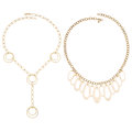 Estate Jewelry:Necklaces, Gold Necklaces. ... (Total: 2 Items)