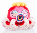 Collectible:Contemporary, Takashi Murakami X The Broad. Red Octopus: Mr. Boiled, c. 2017. Plush toy. 4-1/2 x 6 x 6 inches (11.4 x 15.2 x 15.2 cm)...