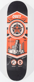 General Americana, Shepard Fairey (b. 1970). Untitled, n.d.. Offset lithographin color on skate deck. 32 x 8 inches (81.3 x 20.3 cm). Prod...