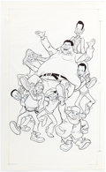 Animation Art:Production Drawing, Fat Albert and the Cosby Kids Illustration Art andProduction Materials Group of 4 (Filmation, 1972).... (Total: 4Items)
