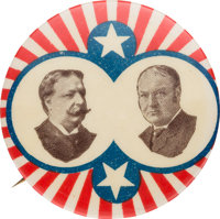 Taft & Sherman: Minty Stars & Stripes Jugate by Ehrman of Boston