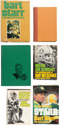 Football Collectibles:Publications, 1968-87 Green Bay Packer Greats Signed Books Lot of 6 from The Domenic Gentile Collection. ...