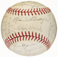 Autographs:Baseballs, 1969 New York Yankees Team Signed Baseball with Rookie Thurman Munson (28 Signatures)....