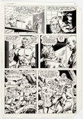 Original Comic Art:Panel Pages, Dick Ayers and Tony DeZuniga The Mighty Crusaders #6 StoryPage 5 Original Art (Archie, 1984)....
