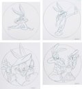 Animation Art:Concept Art, Bugs Bunny and Wile E. Coyote Merchandise Design Art Group of 4 (Warner Brothers, c. 1990s).... (Total: 4 Original Art)