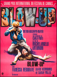 "Blow-Up (MGM, R-1970s) Very Fine+ on Linen. Full-bleed French Grande (47"" X 63""). Georges Kerfyser Artwork. Th..."