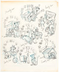 Animation Art:Concept Art, Scooby-Doo Watch Concept Drawings Original Art (Hanna-Barbera, c. 1970s)....