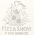 "Animation Art:Concept Art, The Jetsons ""Pizza Show"" Logo Concept Drawing Original Art (Hanna-Barbera, 1993)...."