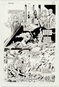 Original Comic Art:Panel Pages, George Pérez and Bob McLeod The New Titans #51 Story Page 7Original Art (DC, 1988)....