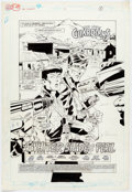 Original Comic Art:Splash Pages, Joe Staton, Mark Farmer, and Pablo Marcos The New Guardians#8 Splash Page 1 Original Art (DC, 1989)....