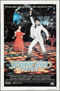 "Movie Posters:Drama, Saturday Night Fever (Paramount, 1977) Folded, Fine+. One Sheet(27"" X 41""). Drama...."