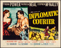 "Movie Posters:Drama, Diplomatic Courier (20th Century Fox, 1952).Rolled, Fine+. Half Sheet (22"" X 28""). Drama...."