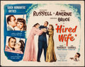 "Movie Posters:Comedy, Hired Wife (Eagle Lion, R-1948). Rolled, Fine+. Half Sheet (22"" X 28""). Comedy...."