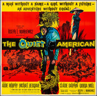 "The Quiet American (United Artists, 1958).Folded, Very Fine. Six Sheet (81"" X 81""). Thriller"