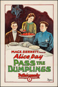 """Movie Posters:Comedy, Pass the Dumplings (Pathé, 1927) Fine/Very Fine on Linen. One Sheet(27"""" X 41""""). Comedy. From the Collection of Frank Buxt..."""