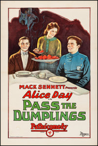 """Pass the Dumplings (Pathé, 1927) Fine/Very Fine on Linen. One Sheet (27"""" X 41""""). Comedy. From the Colle..."""