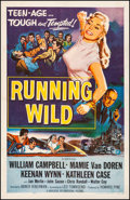 "Movie Posters:Bad Girl, Running Wild (Universal International, 1955) Fine+ on Linen. One Sheet (26.75"" X 41.5""). Bad Girl. From the Collection of ..."