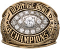 Football Collectibles:Others, 1993 Grambling State University Heritage Bowl Champions Ring Presented to Head Coach Eddie Robinson - Last Bowl Appearance. ...
