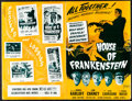 Movie Posters:Horror, House of Frankenstein (Realart, R-1950). Folded, Fine/Very...