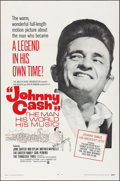"Movie Posters:Documentary, Johnny Cash! The Man, His World, His Music (Continental, 1969).Folded, Very Fine+. One Sheet (27"" X 41""). Documentary...."