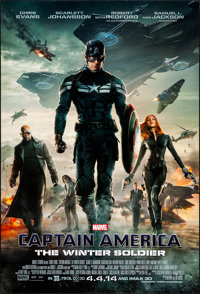 "Captain America: The Winter Soldier (Walt Disney Pictures, 2014) Rolled, Very Fine+. One Sheet (27"" X 40"") DS..."
