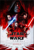 "Movie Posters:Science Fiction, Star Wars: The Last Jedi (Walt Disney Studios, 2017) Rolled, Very Fine+. One Sheet (27"" X 40"") DS Advance. Science Fiction...."