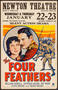 """Movie Posters:Adventure, The Four Feathers (Paramount, 1929).Very Fine-. Window Card (14"""" X 22""""). Adventure. From the Collection of Frank Buxton, o..."""